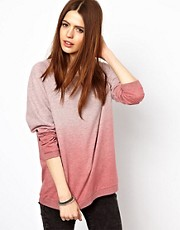Just Female Dip Dye Sweatshirt
