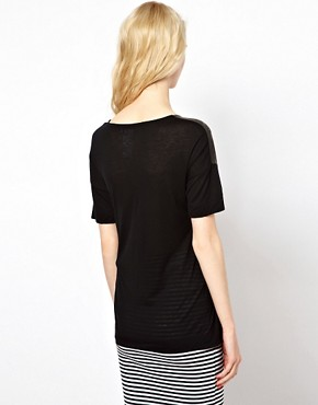 Image 2 ofSonia by Sonia Rykiel Ooh La La Tee in Wool Mix Jersey