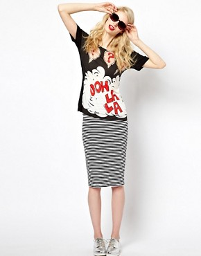Image 4 ofSonia by Sonia Rykiel Ooh La La Tee in Wool Mix Jersey