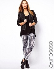 ASOS CURVE Legging In Tie Dye Print