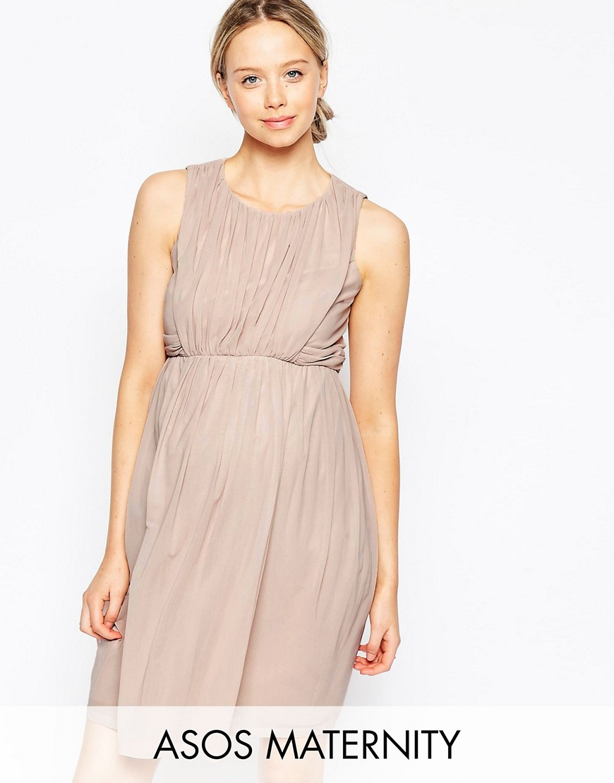 ASOS Maternity Ruched Mini Tulip Dress - Pink