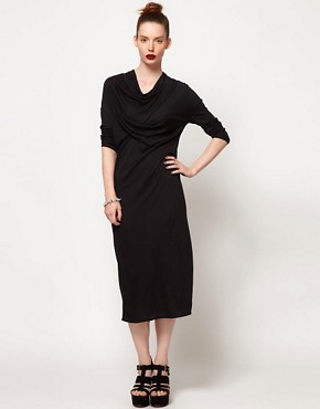 Image 1 ofDagmar Tube Dress With Draped Neck