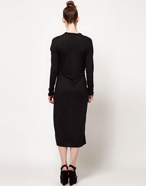 Image 2 ofDagmar Tube Dress With Draped Neck