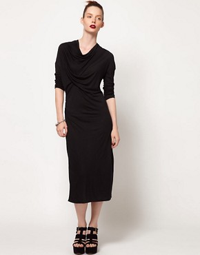 Image 4 ofDagmar Tube Dress With Draped Neck