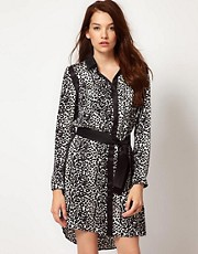 Kookai Leopard Shirt Dress