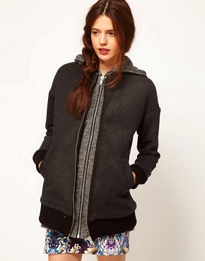 Image 1 ofASOS Africa Hooded Jacket with Detachable Gilet