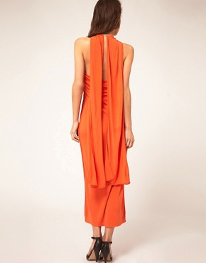 Image 2 ofKore by Sophia Kokosalaki Cross Halter Tie Dress