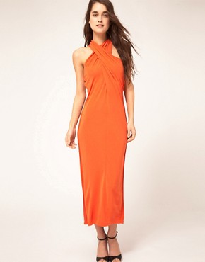 Image 1 ofKore by Sophia Kokosalaki Cross Halter Tie Dress
