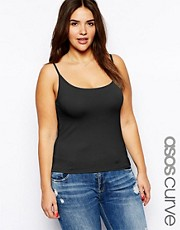 ASOS CURVE Exclusive Vest In Soft Stretch Jersey