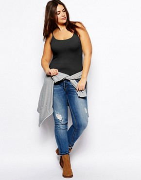 Image 4 ofASOS CURVE Exclusive Vest In Soft Stretch Jersey