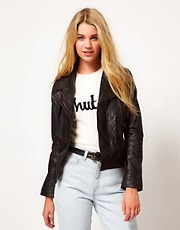 Barneys Originals Leather Biker Jacket