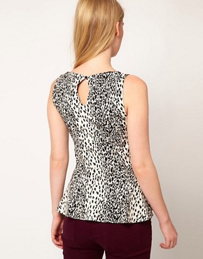 Image 2 ofOasis Animal Print Pepulm Top