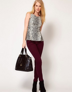 Image 4 ofOasis Animal Print Pepulm Top