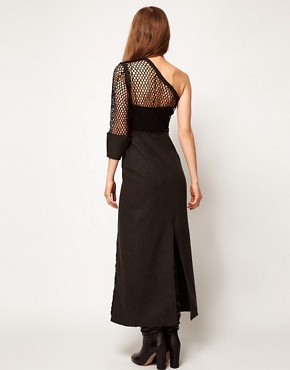 Image 2 ofKore by Sophia Kokosalaki maxi Length Dress With One Shoulder Lace Bodice