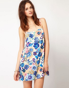 Image 1 ofTo Love Kuvaa Bold Floral Print Dress