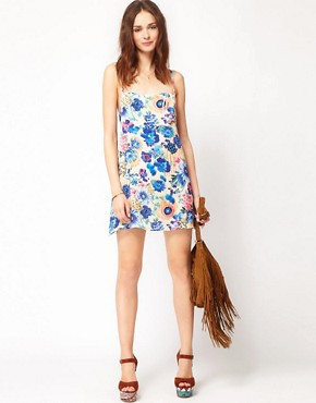 Image 4 ofTo Love Kuvaa Bold Floral Print Dress