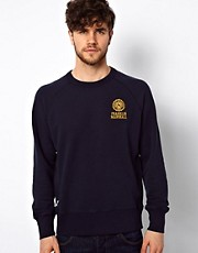 Franklin & Marshall Crew Sweatshirt with Seal Logo