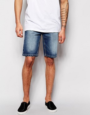 Bellfield Mid Wash Denim Shorts