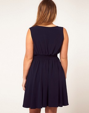 Image 2 ofASOS CURVE Wrap Dress With Bow Detail