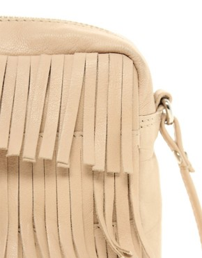 Image 2 ofASOS Leather Fringe Across Body Bag
