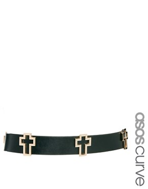 Image 1 ofASOS CURVE Cross Waist Belt