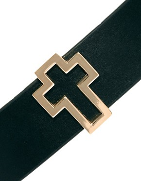 Image 2 ofASOS CURVE Cross Waist Belt