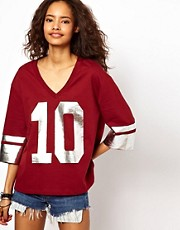 ASOS T-Shirt with Foil Number 10