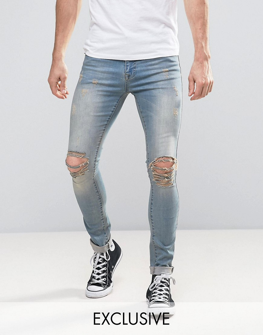 Brooklyn Supply Co Distressed Grunge Jeans - Bk1 - black 1