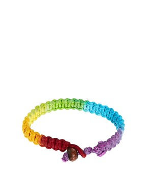 Image 2 ofASOS Neon Rainbow Bracelet