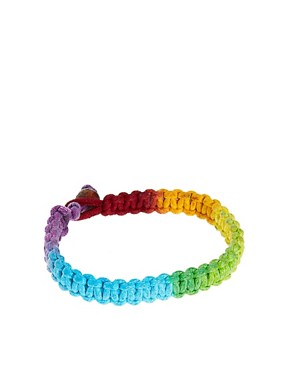 Image 1 ofASOS Neon Rainbow Bracelet