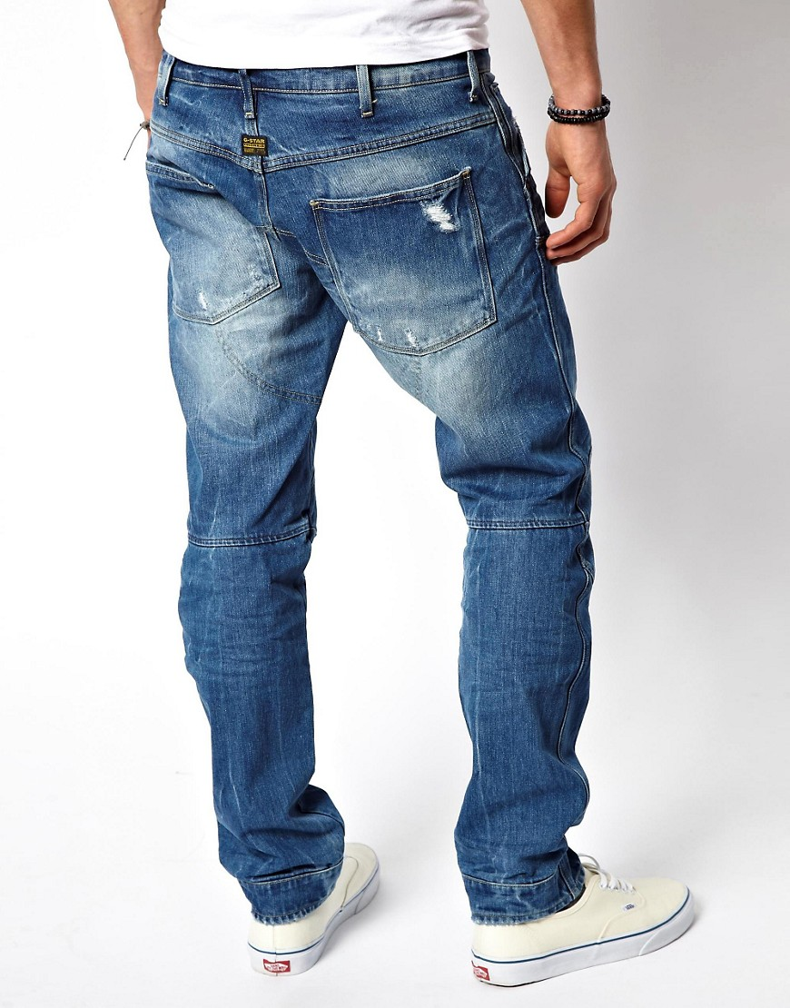 Image 2 of G Star Jeans Elwood 3d Low Tapered Light Aged