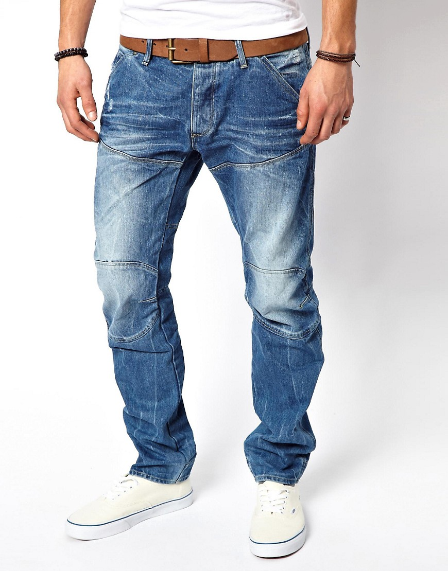 Image 1 of G Star Jeans Elwood 3d Low Tapered Light Aged