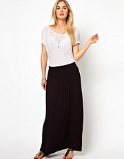 Vila Pleat Jersey Skirt