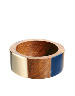Image 1 ofFrench Connection Resin &amp; Wood Bangle