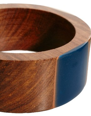 Image 3 ofFrench Connection Resin &amp; Wood Bangle