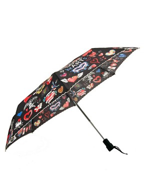 Image 1 ofMoschino Cheap &amp; Chic I Love Hearts Umbrella