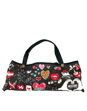 Image 2 ofMoschino Cheap &amp; Chic I Love Hearts Umbrella