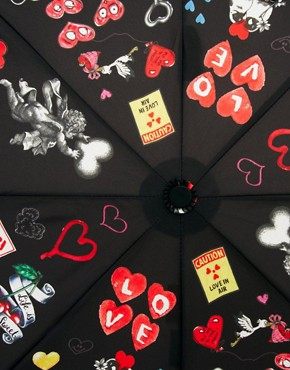 Image 3 ofMoschino Cheap &amp; Chic I Love Hearts Umbrella