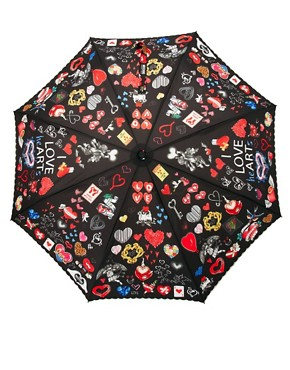 Image 4 ofMoschino Cheap &amp; Chic I Love Hearts Umbrella