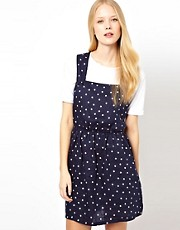 Sessun Polka Dot Pinafore Dress