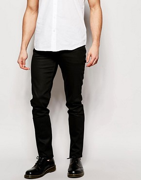 Weekday Jeans Friday Skinny Fit Coated Black