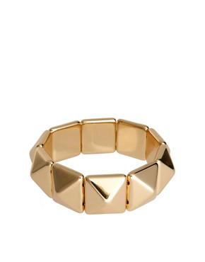Image 1 ofASOS Pyramid Stud Stretch Bracelet