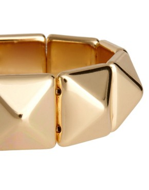Image 3 ofASOS Pyramid Stud Stretch Bracelet