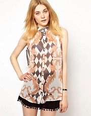 Vila Chain Print Sleeveless Shirt