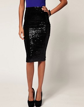 Image 4 ofASOS Pencil Skirt in Sequins