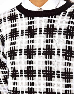 Image 3 ofASOS Mono Checked Sweater