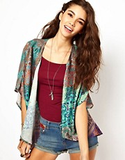 Band Of Gypsies Kimono Jacket In Indian Print