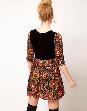 Image 2 ofMinkpink &#39;East End&#39; Retro Folk Skater Dress