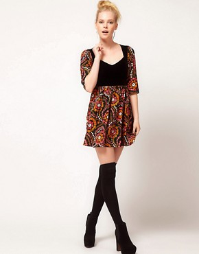 Image 4 ofMinkpink &#39;East End&#39; Retro Folk Skater Dress
