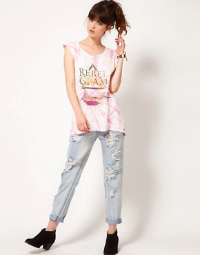 Image 4 ofOne Teaspoon Rebel Glam Harry Tee